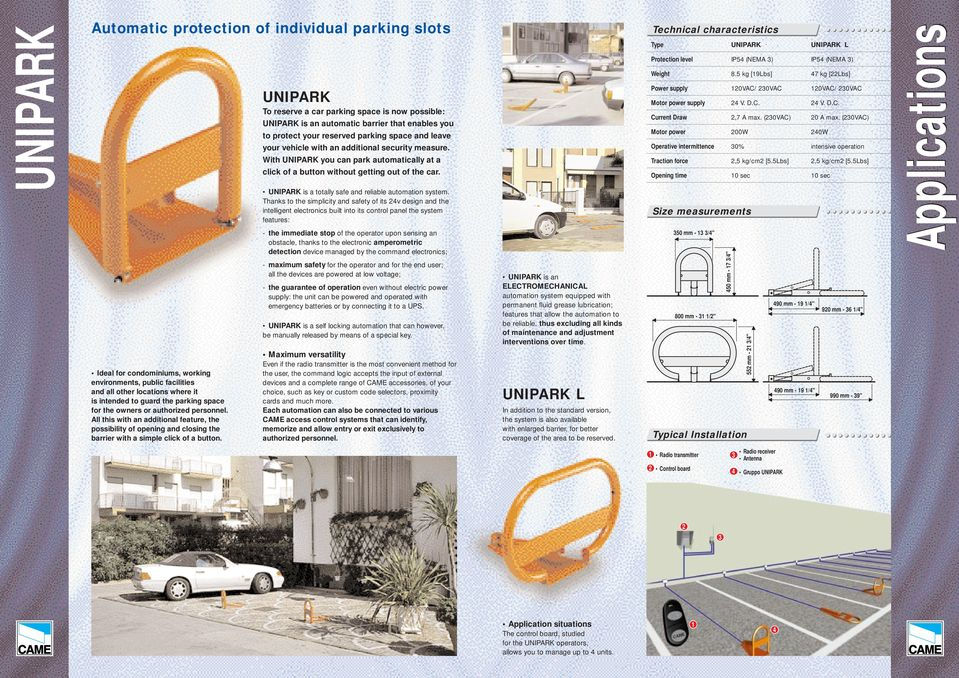 Automatic parking barriers    naturally - PDF