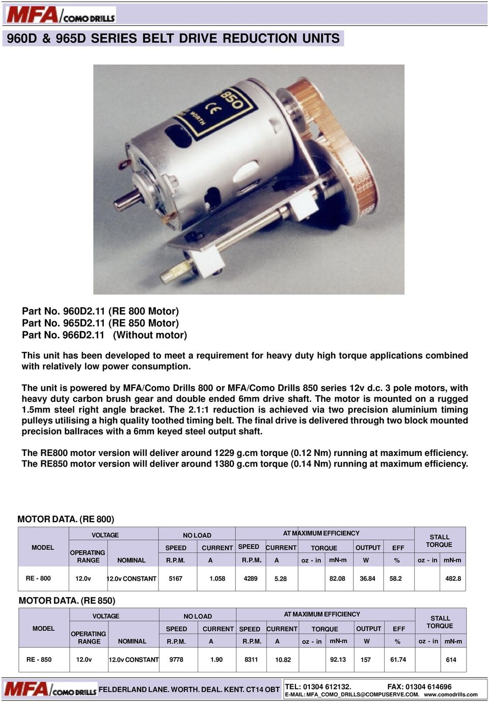 Low Voltage Dc Motors Gearbox Units Pdf Tarp Gear Motor 12 Volt Wiring Diagram The Unit Is Powered By Mfa Como Drills 800 Or 850