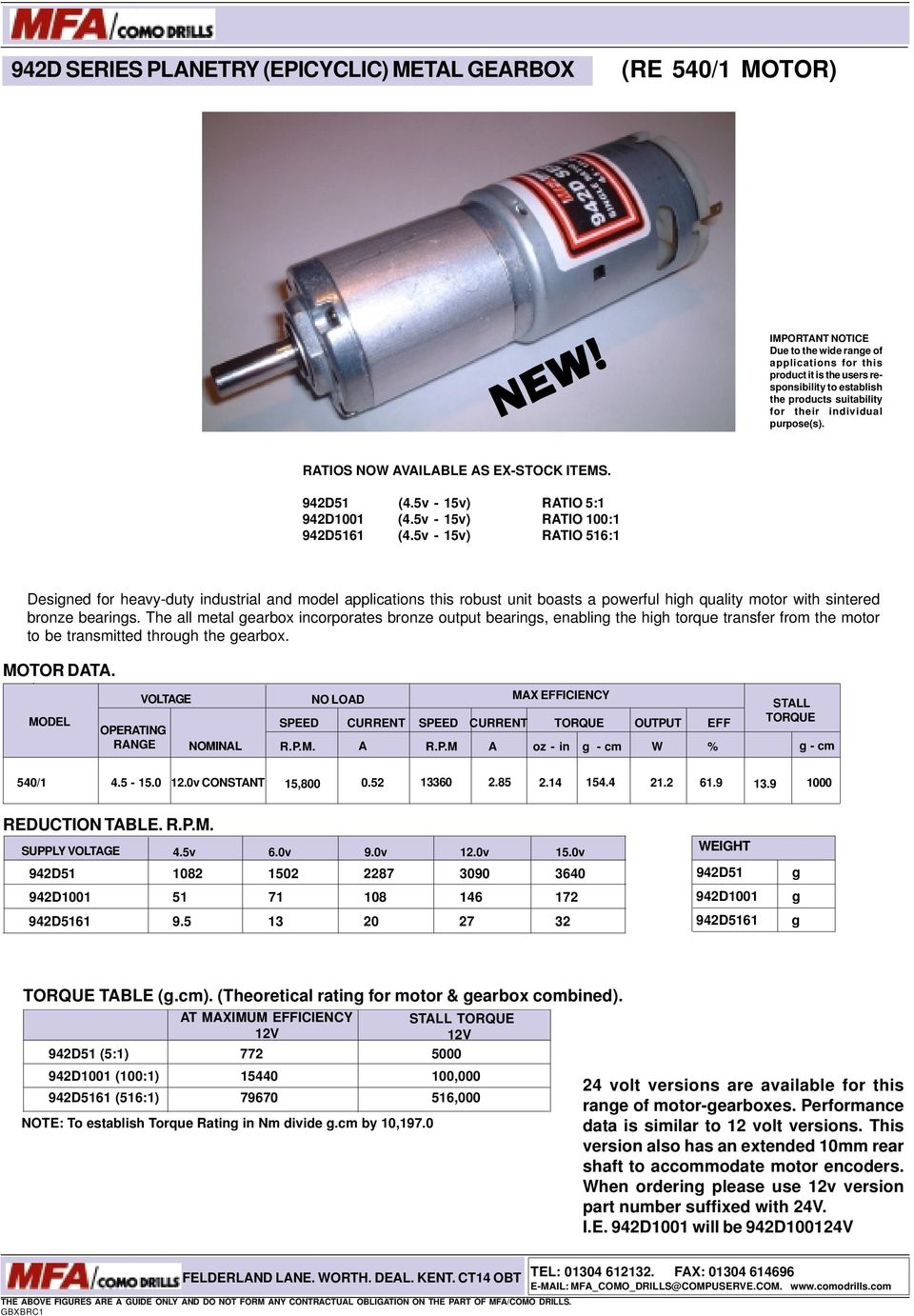 Low Voltage Dc Motors Gearbox Units Pdf Tarp Gear Motor 12 Volt Wiring Diagram Ratios Now Available As Ex Stock Items 942d51 45v 15v