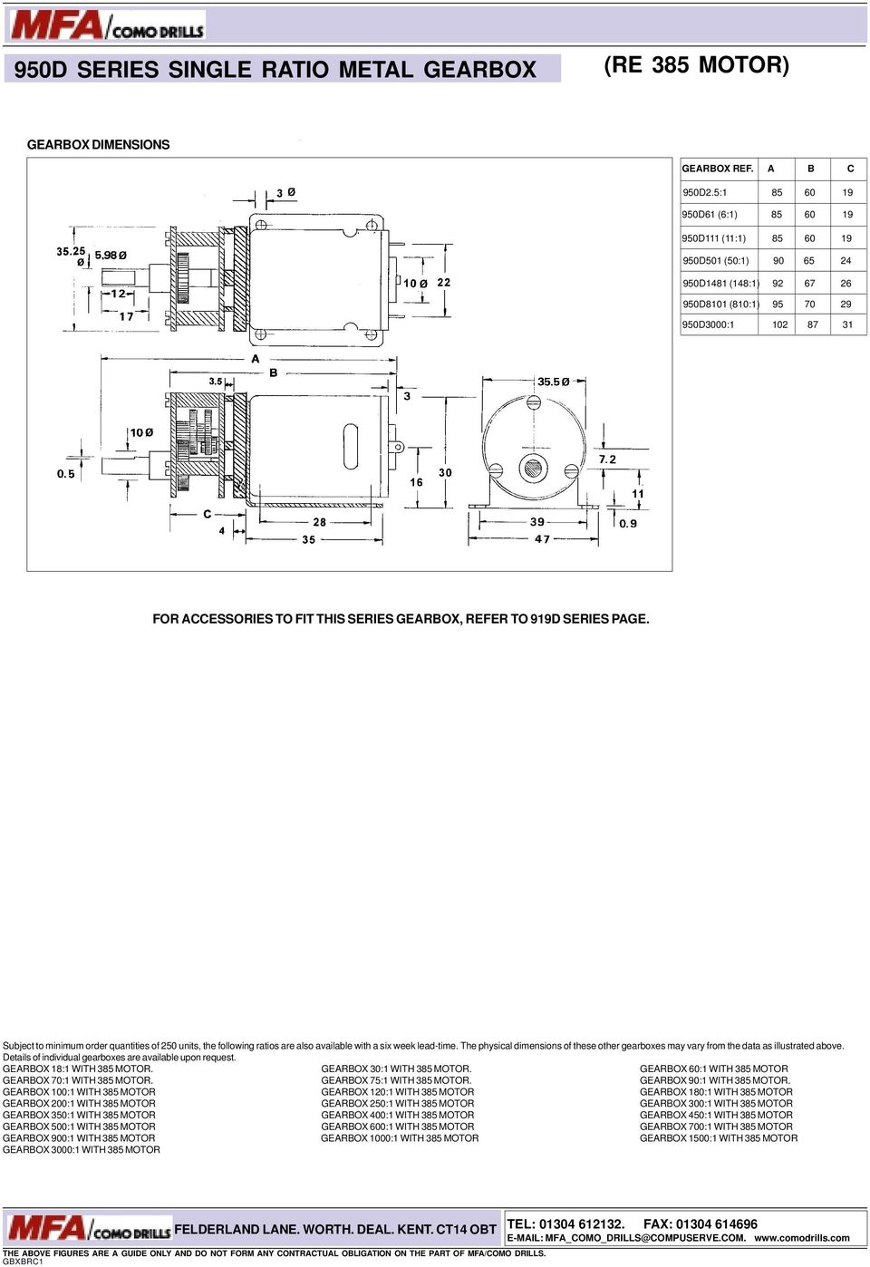 Low Voltage Dc Motors Gearbox Units Pdf Tarp Gear Motor 12 Volt Wiring Diagram Refer To 919d Series Page Subject Minimum Order Quantities Of 250 The