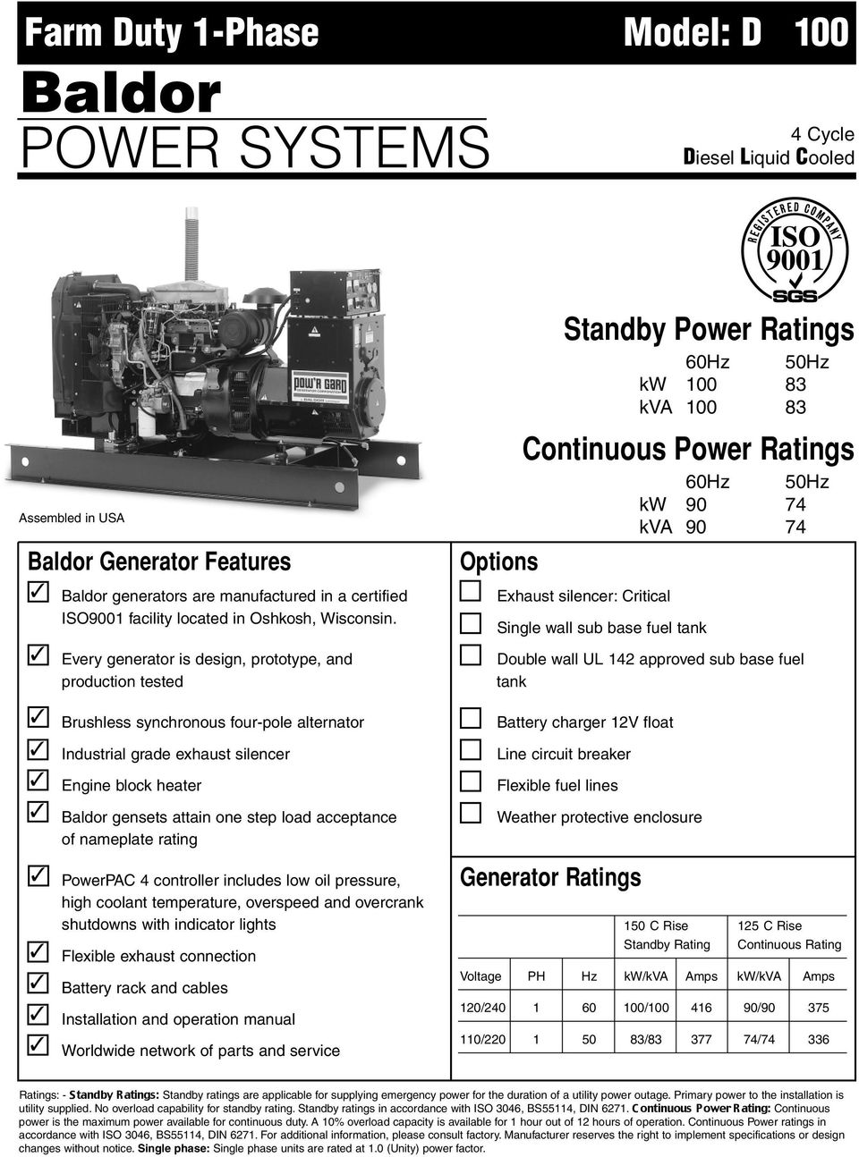 STANDBY PERMANENT MOUNT SERIES GENERATOR - PDF