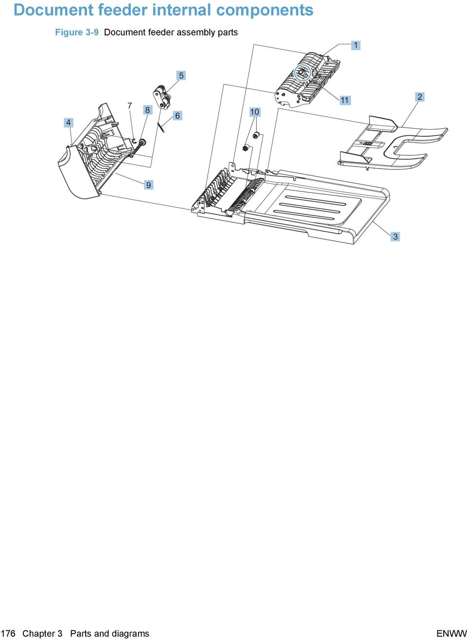 3 Parts And Diagrams Order By Authorized Service Providers Computer Diagram Feeder Assembly 1 5 4 7 8 6