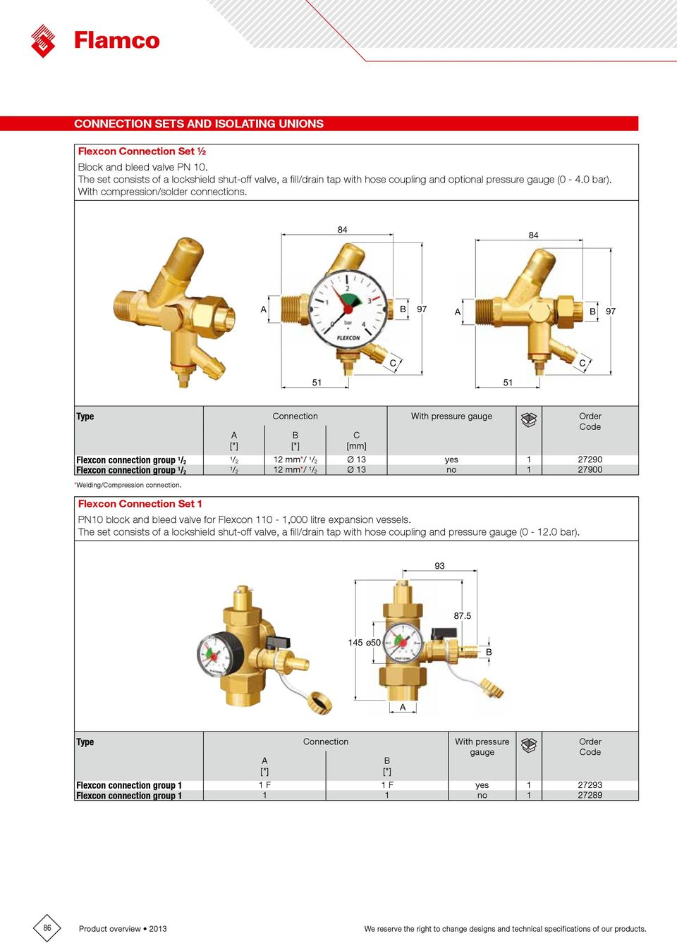 Accessories For Heating And Cooling Installations Pdf Thermostat Wiring Diagram Taco Val 84 97 51 Onnection With Pressure Gauge Flexcon Connection Group 1 2