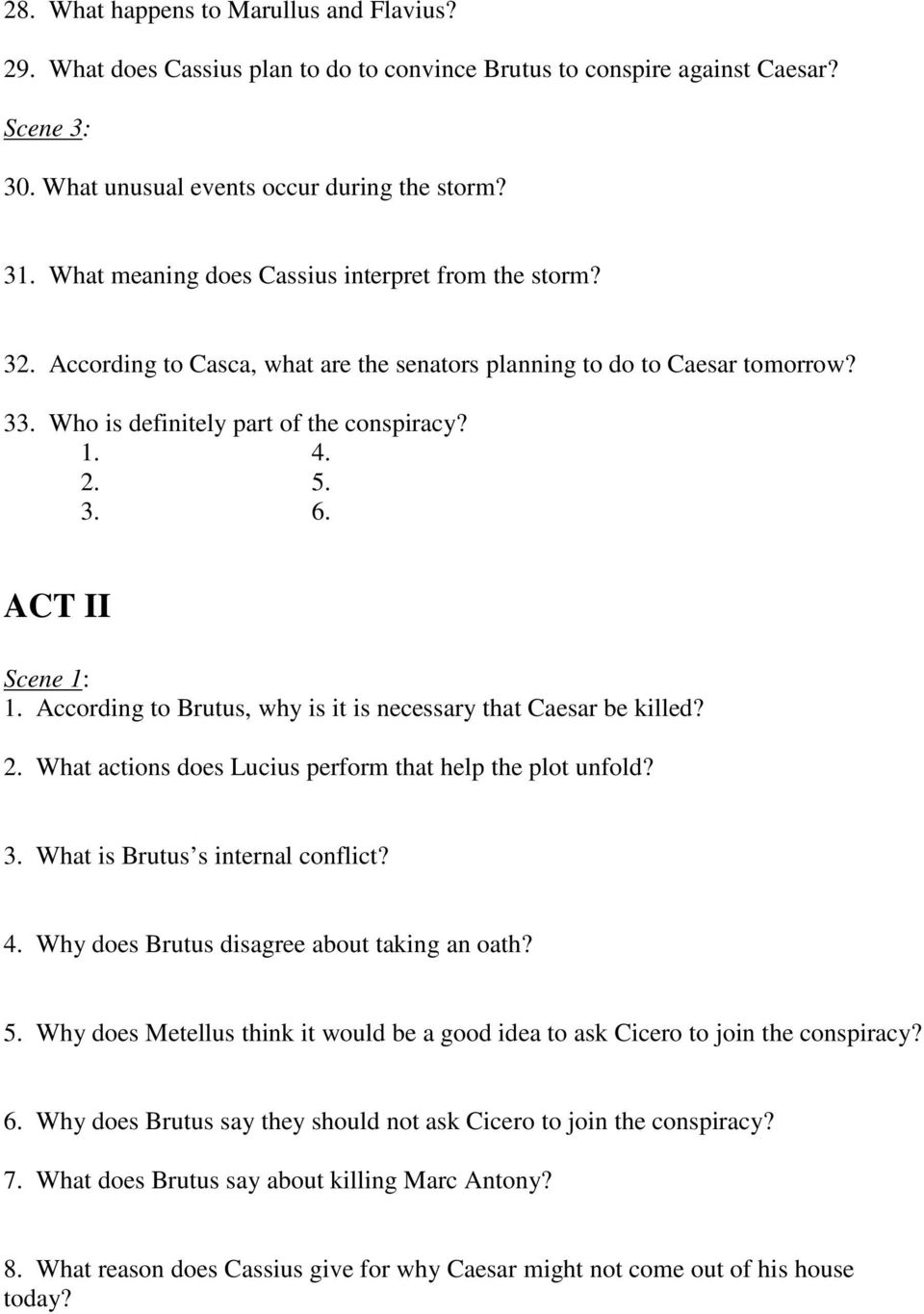 what does brutus say about killing marc antony