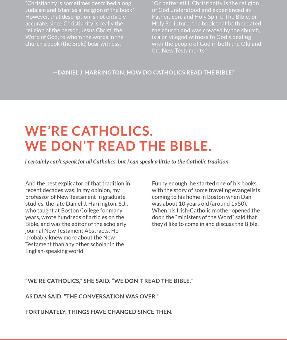 HOW DOES A CATHOLIC READ THE BIBLE? By Rev  James Martin