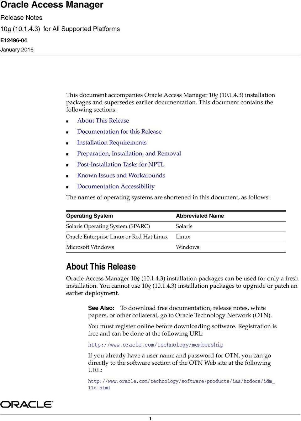 Oracle Access Manager - PDF
