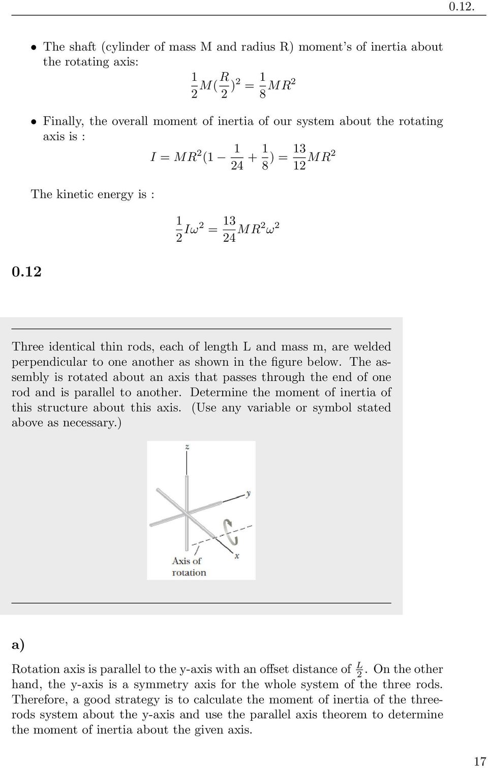 Physics 111 Homework Solution 9 April 5 Pdf Trebuchet Diagram System Of The Device Mr 2 1 24 8 13 12 Mr2