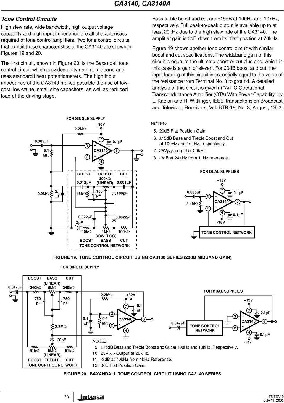 ca3140, ca3140a features 4 5mhz, bimos operational amplifier with