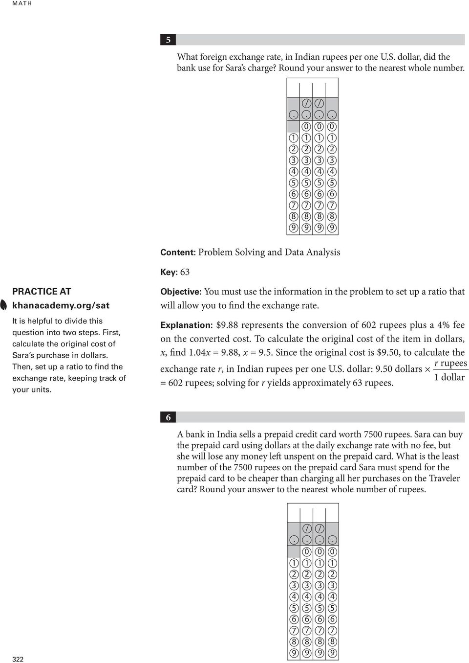 Sample Math Questions: Student- Produced Response - PDF