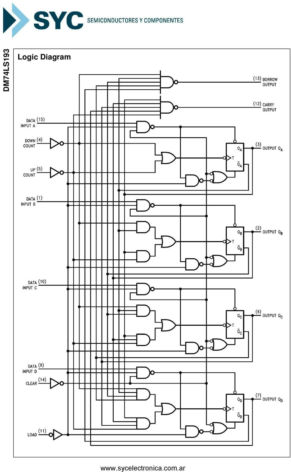 2 Bit Magnitude Comparator Logic Diagram 74ls193 Synchronous 4 Binary Counter With Dual Clock Pdf Dm74ls193