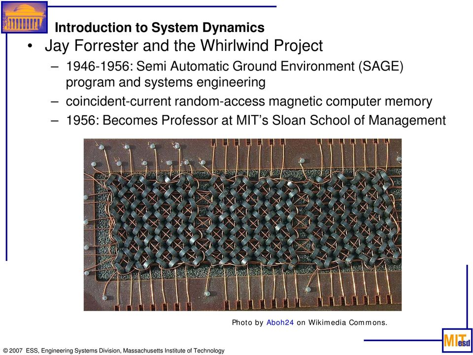 engineering coincident-current random-access magnetic computer memory 1956: