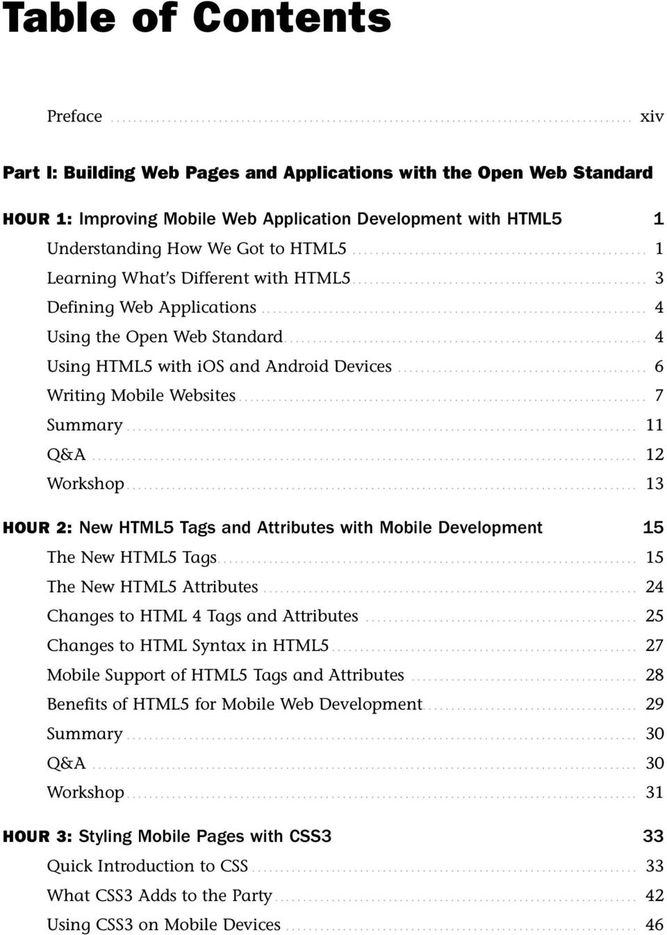 1 Learning What S Different With HTML5 3 Defining Web Applications