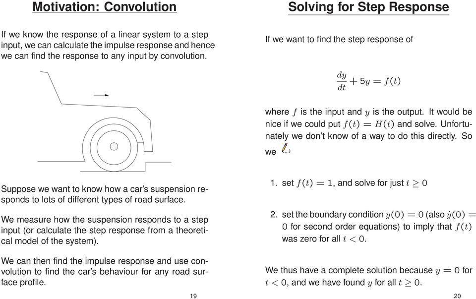 Differential Equations  Solving for Impulse Response  Linear systems