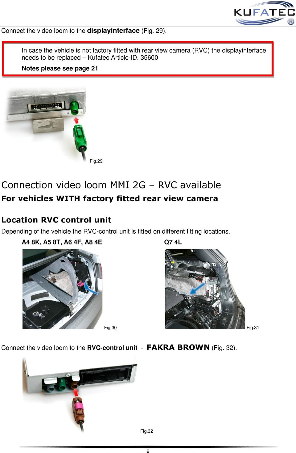 Installation Manual Multimedia Adapter Audi Pdf A6 Mmi Wiring Diagram 35600 Notes Please See Page 21 Fig