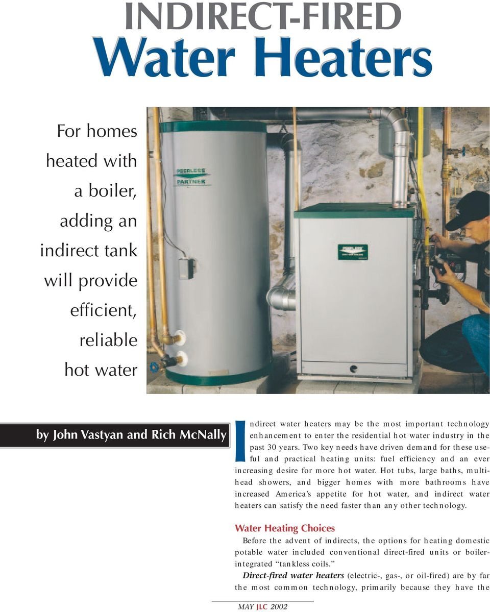 Indirect water heaters may be the most important technology - PDF