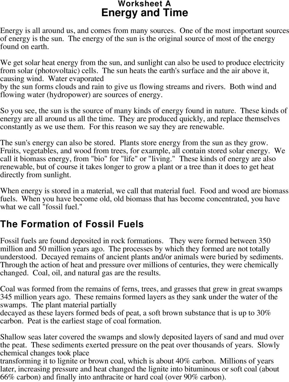 The Formation of Fossil Fuels - PDF