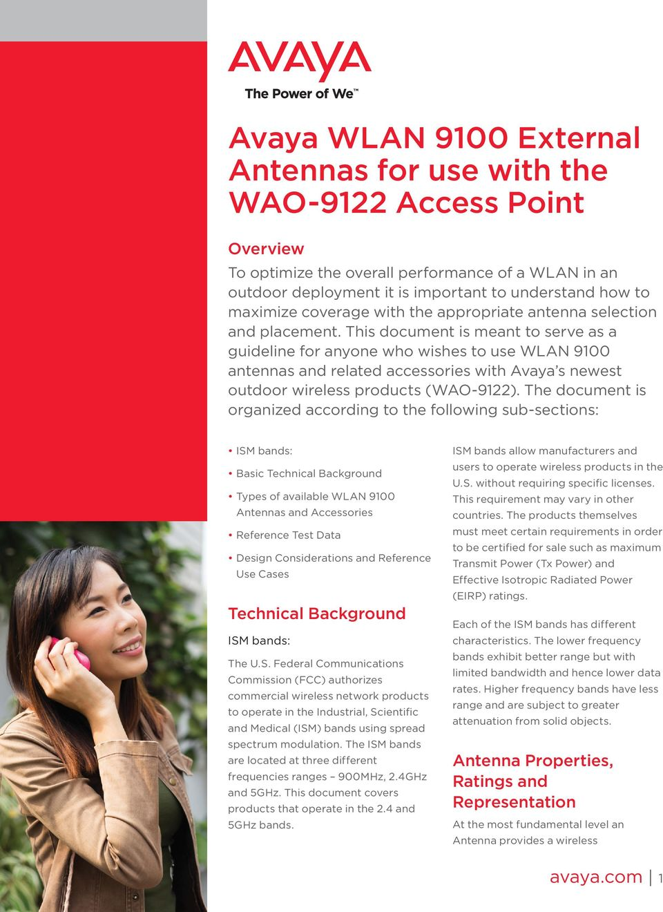 Avaya WLAN 9100 External Antennas for use with the WAO-9122 Access
