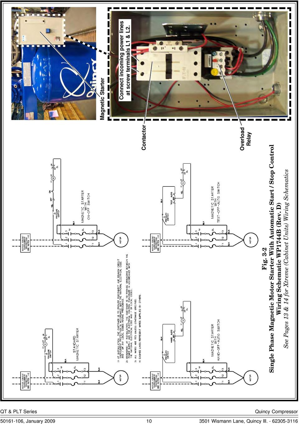 2 Stage Compressors Instruction Manual Pdf With Start Stop Switch Motor Wiring Diagram Schematic Wp1744b Rev