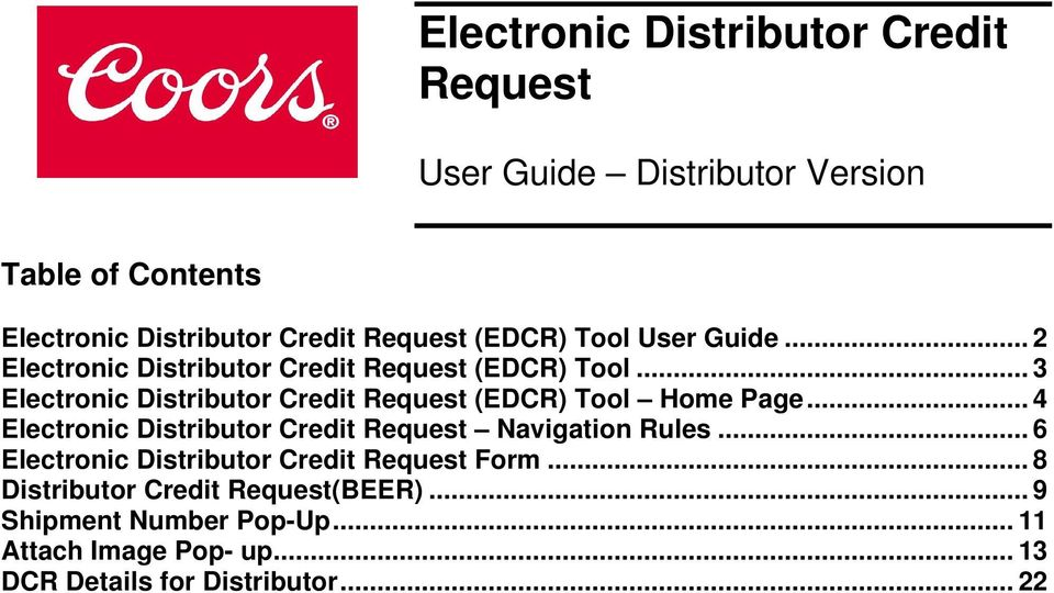 electronic distributor credit request pdf