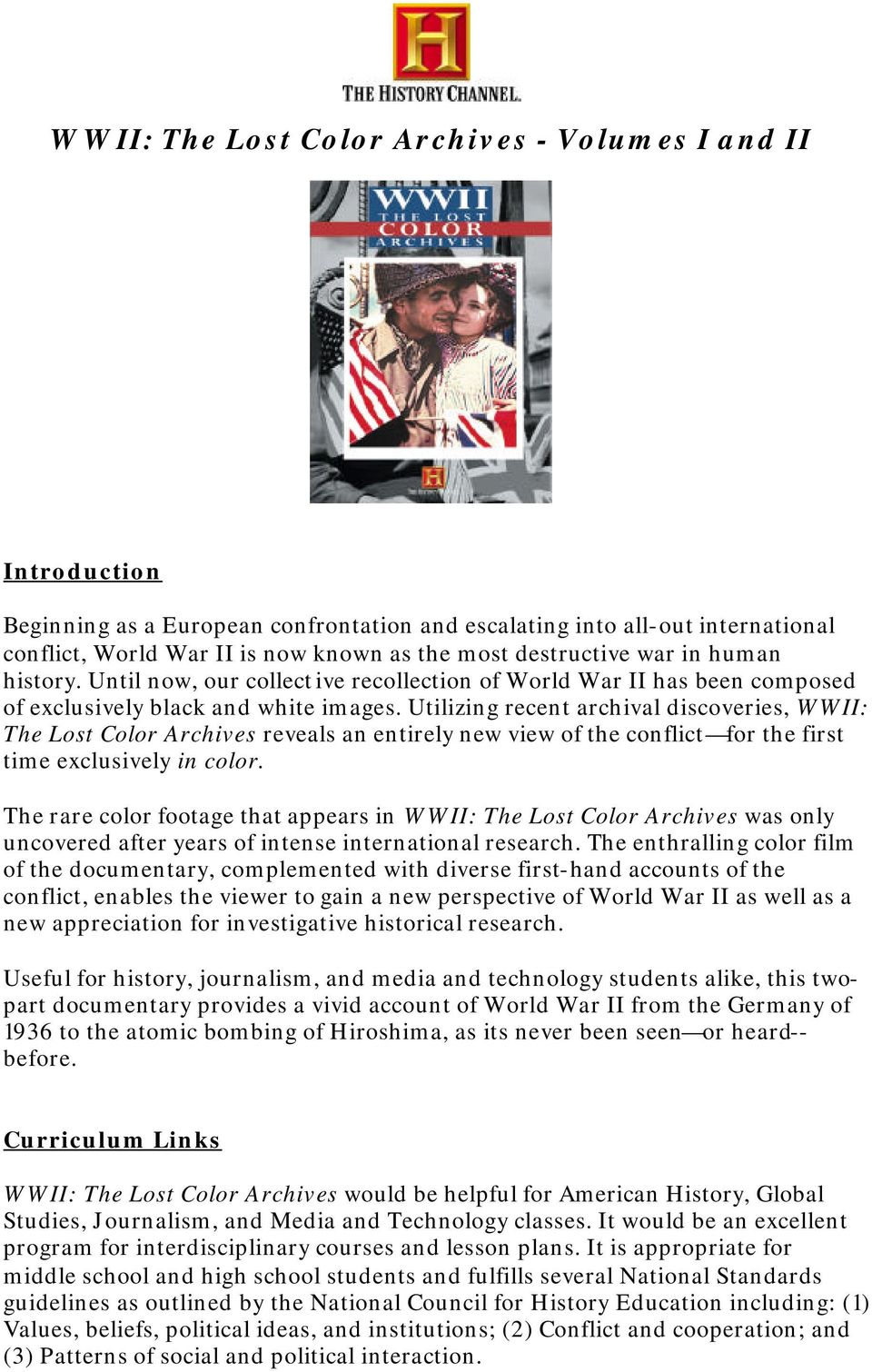 WWII: The Lost Color Archives - Volumes I and II - PDF