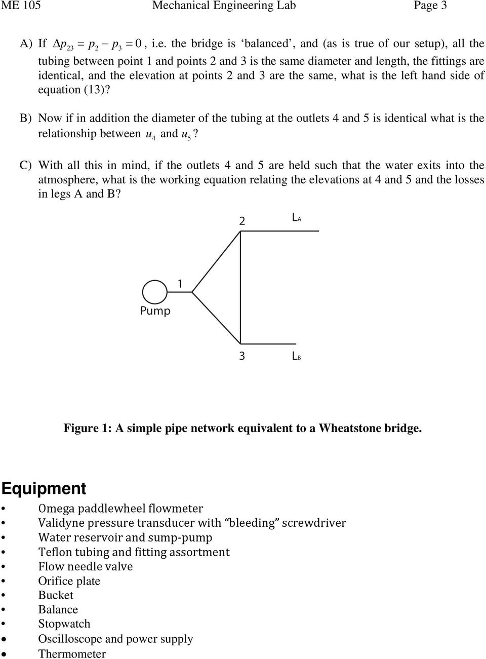 Experiment # 3: Pipe Flow - PDF