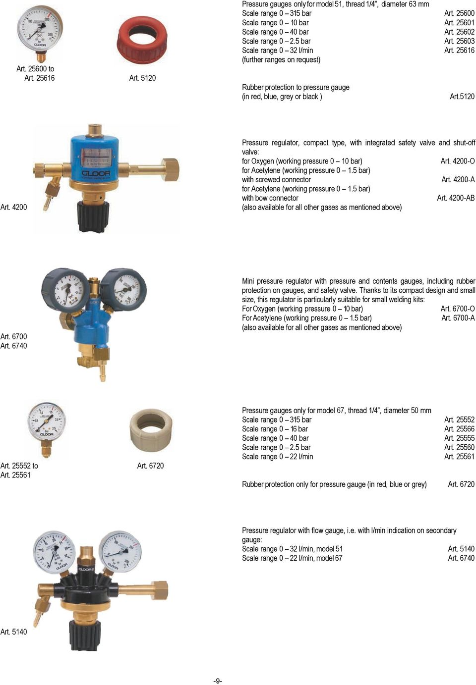 Welding And Cutting Torches Light Version Page 2 Standard Pressure Regulator For Machine Gas Circuit Control Buy 5120 Compact Type With Integrated Safety Valve Shut Off