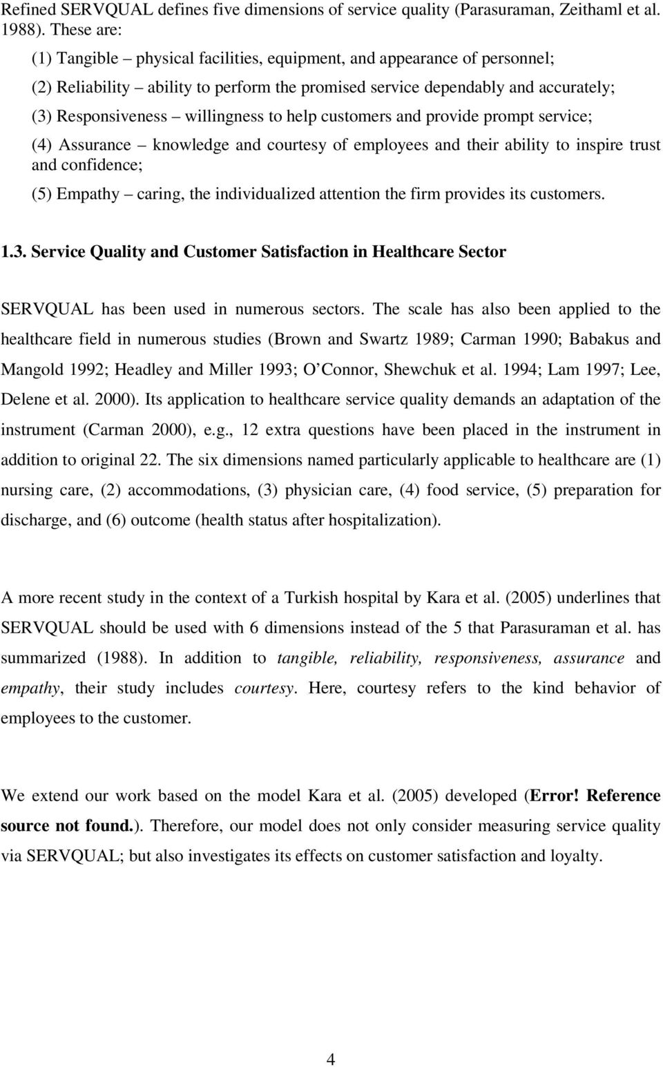 quality assurance and customer satisfaction