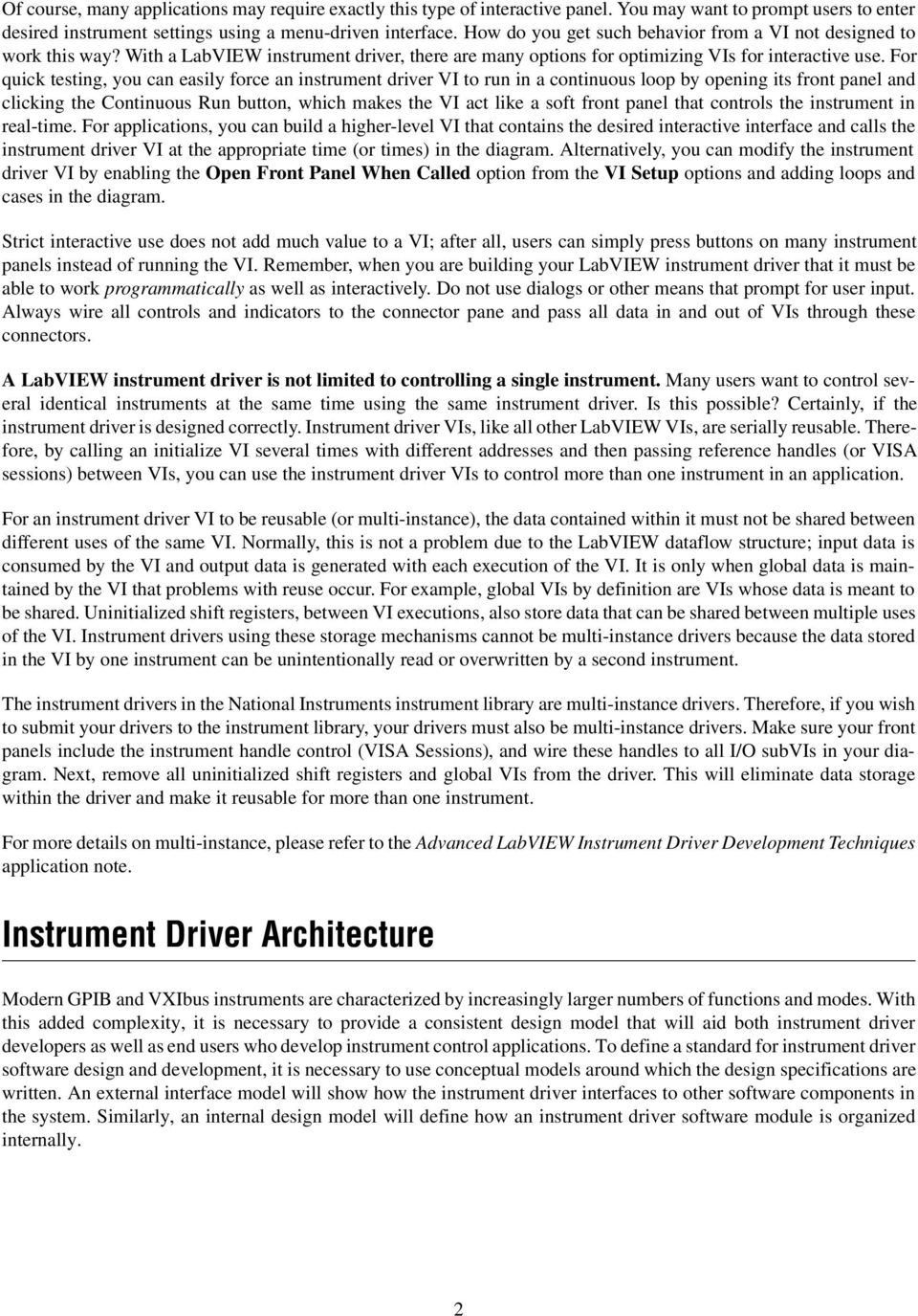 Developing a LabVIEW Instrument Driver - PDF Free Download