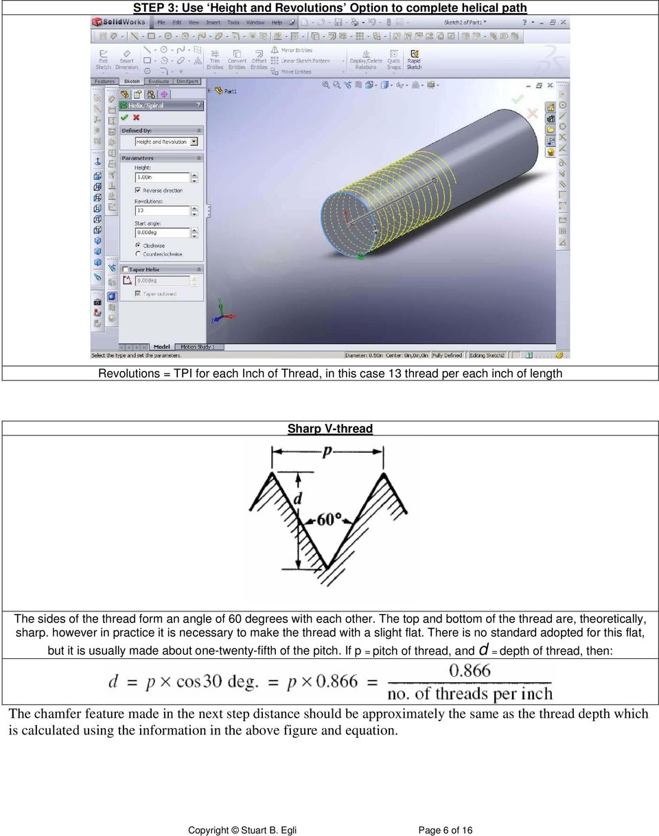 Making 3D Threads in Feature Based Solid Modelers - PDF