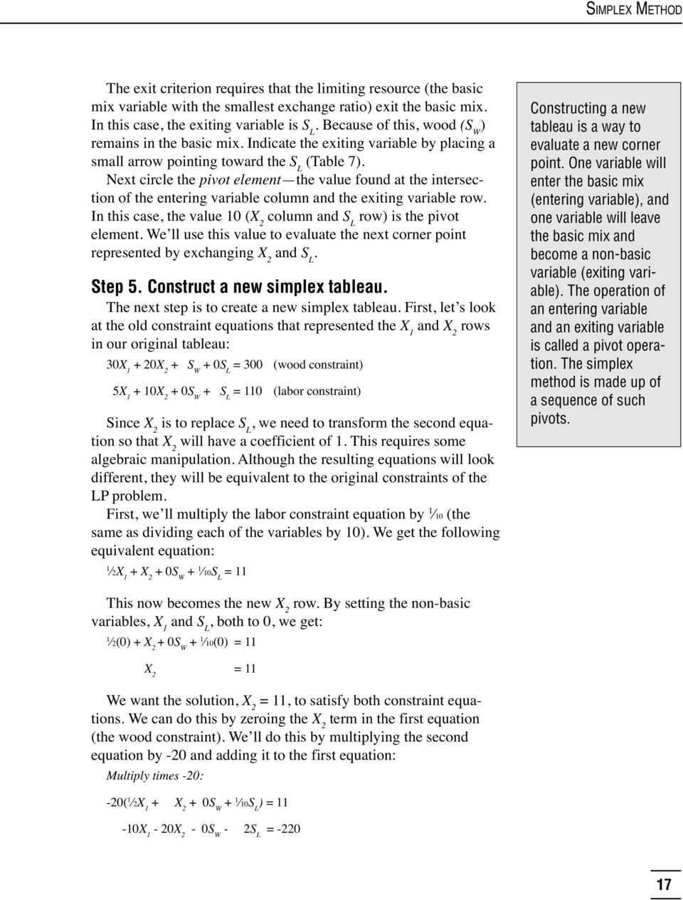 Using the Simplex Method to Solve Linear Programming