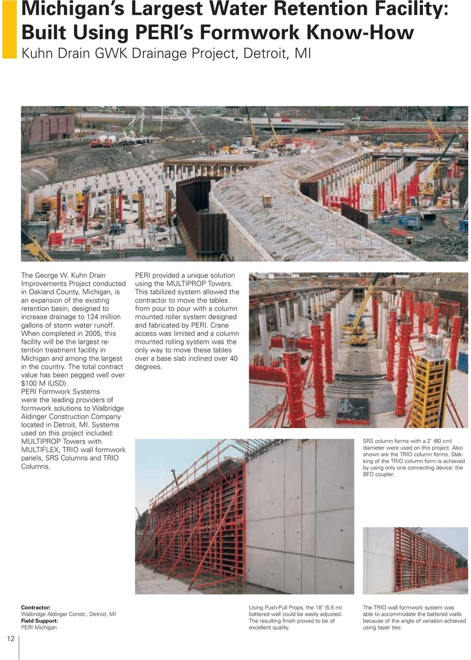 scope Successful construction with PERI The Formwork Engineering