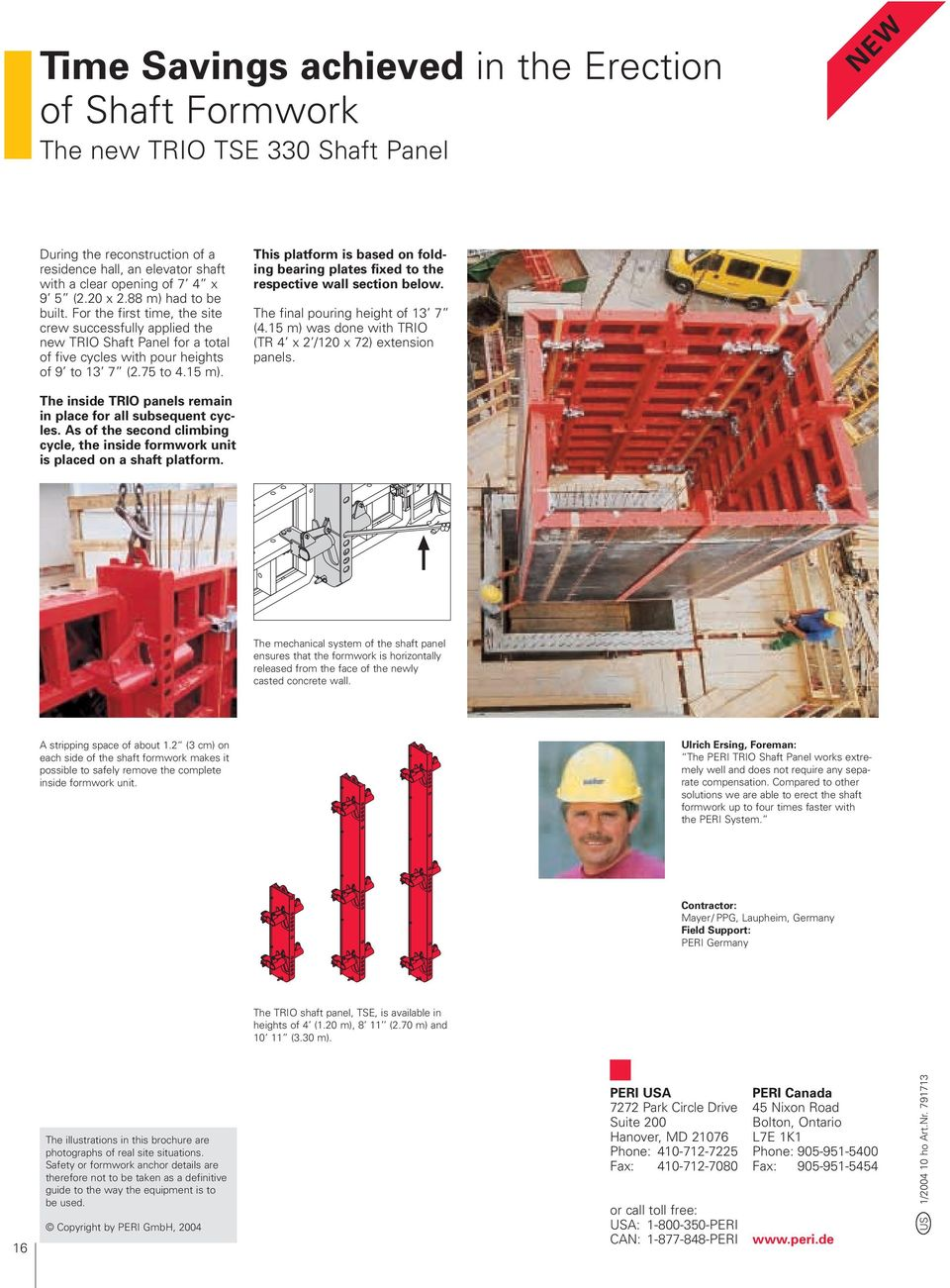 scope Successful construction with PERI The Formwork