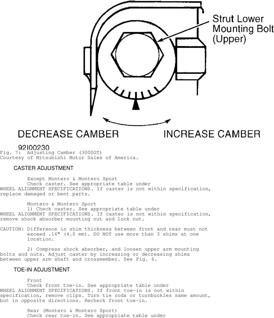 WHEEL ALIGNMENT SPECIFICATIONS & PROCEDURES - PDF
