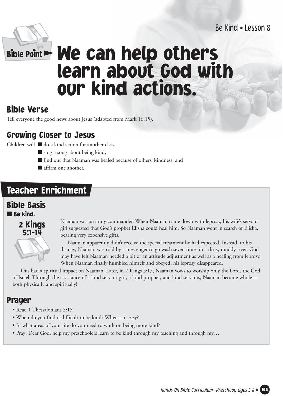 We can help others learn about God with our kind actions  - PDF