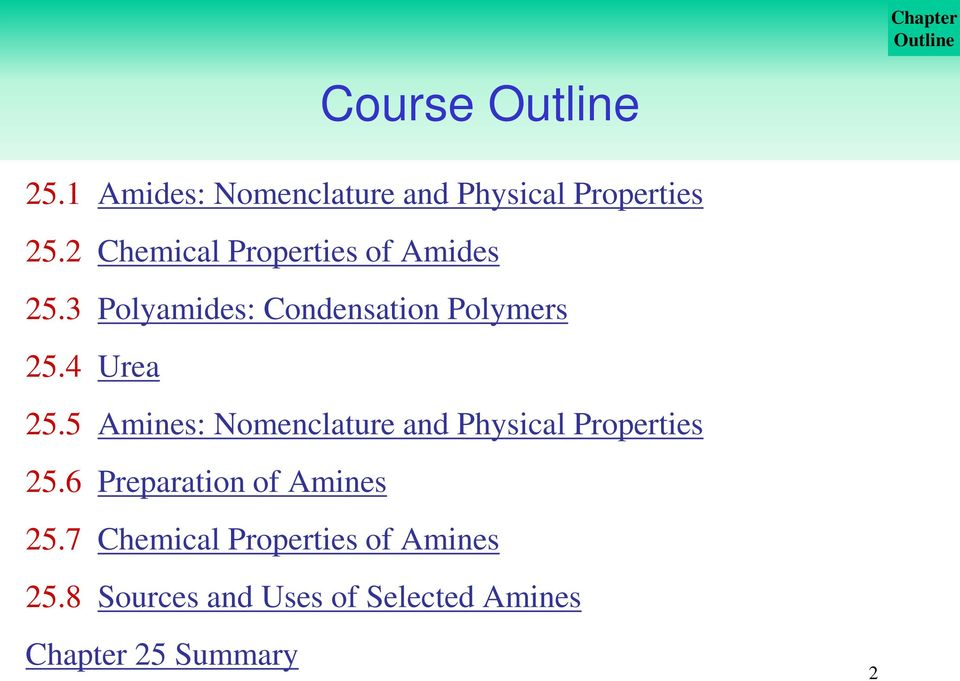 Amides and Amines: Organic Nitrogen Compounds - PDF