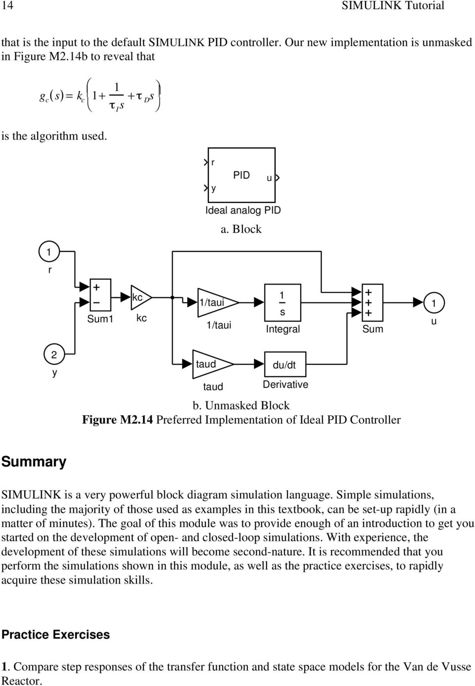 Module 2 Introduction To Simulink Pdf P Id Block Diagram 4 Preferred Implementation Of Ideal Pid Controller Summary Is A Very Powerful Simulation