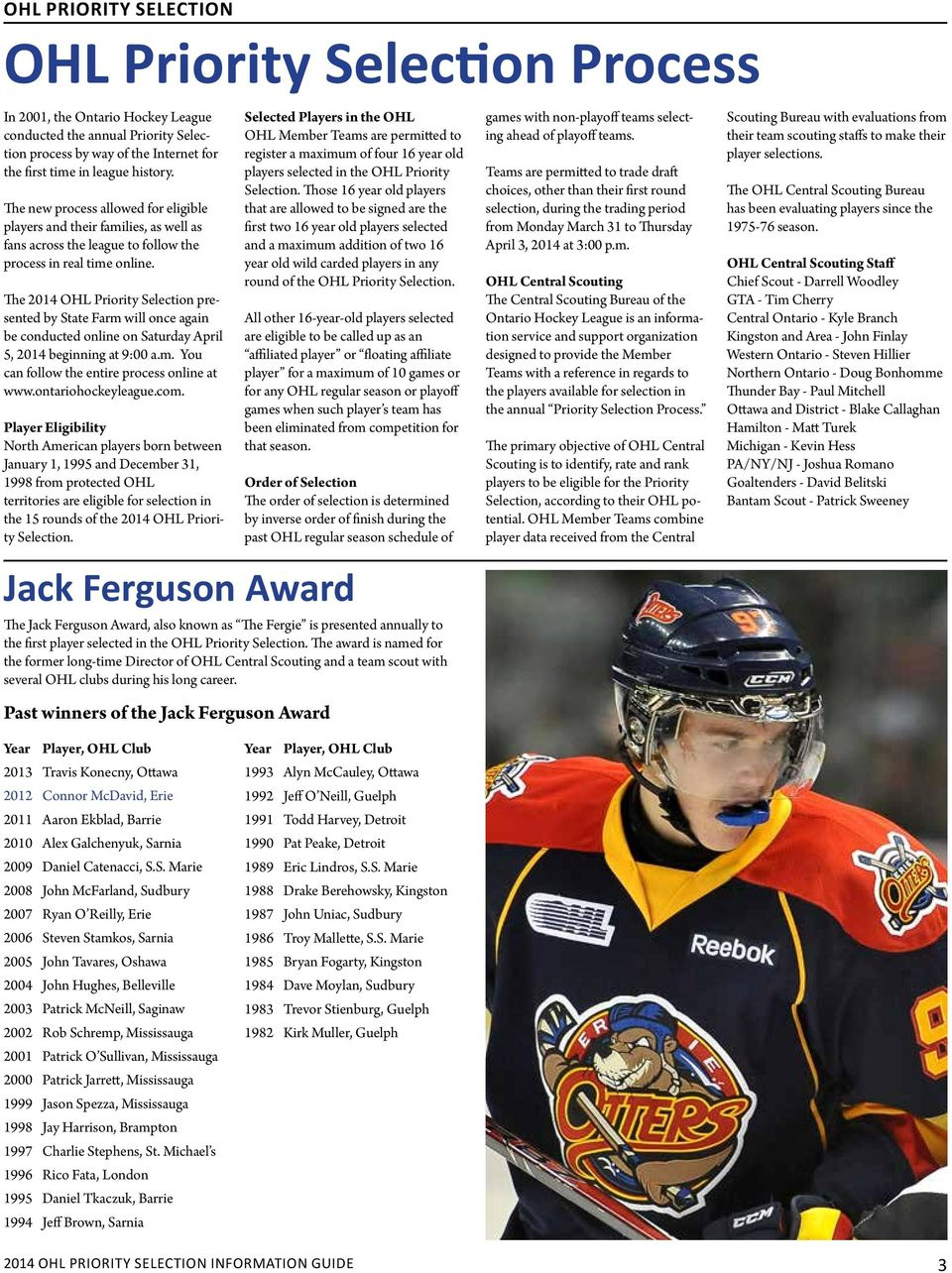2014 OHL Priority Selection Information Guide - PDF