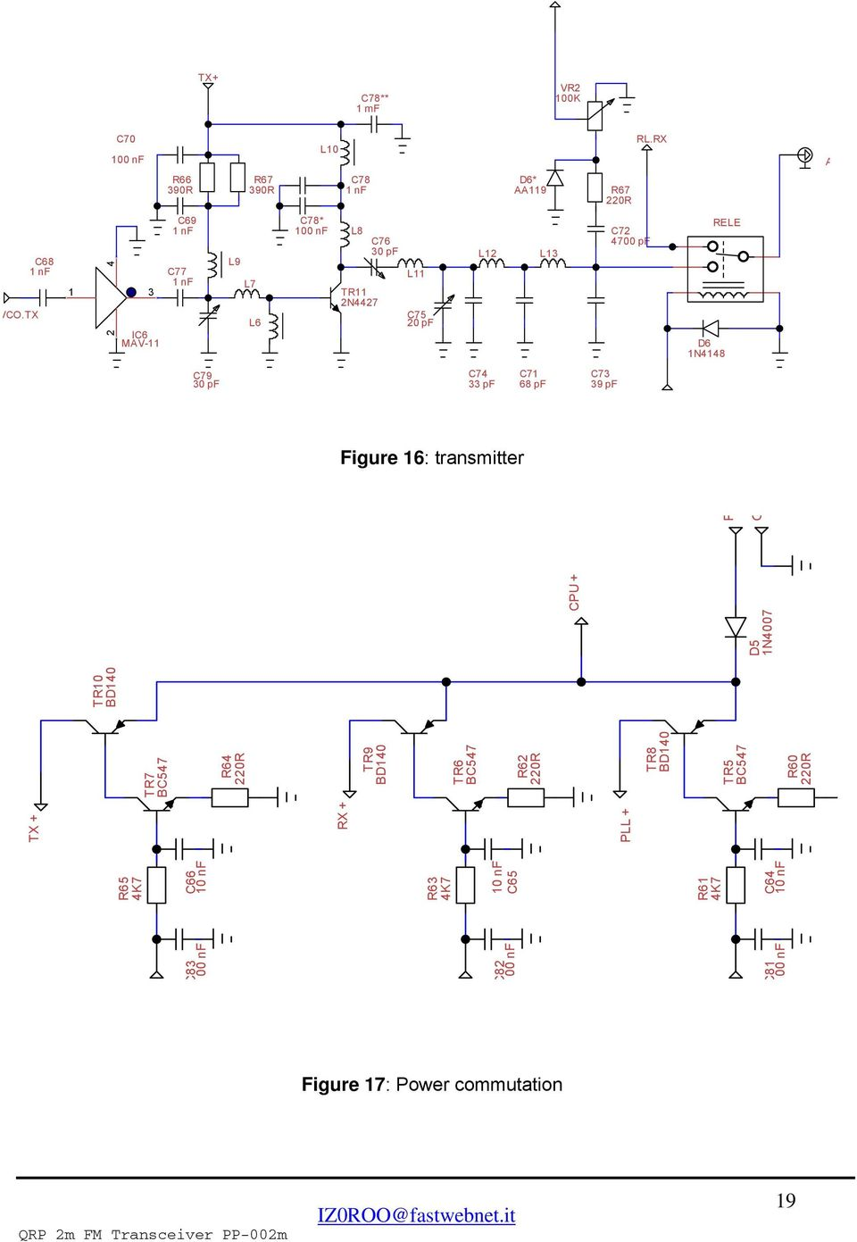 Qrp 2m Fm Transceiver Project Pdf Tr8 Wiring Diagram Pf C73 39 Figure 16 Transmitter C83 00 Nf C82 C81