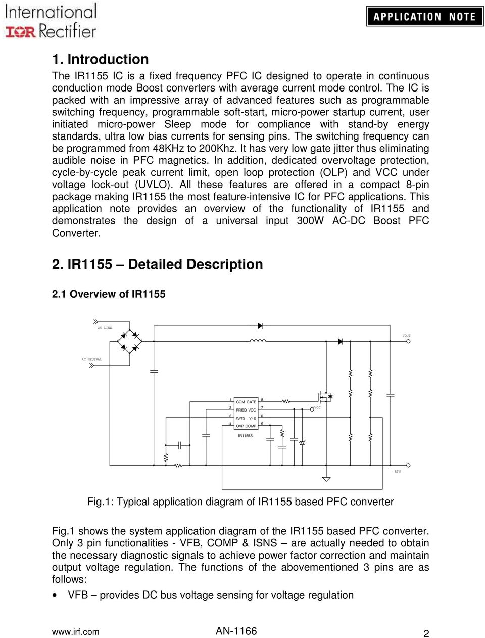 Application Note An Pdf Circuit Diagram Of A Typical Power Factor Correction Boost Converter For Compliance With Stand By Energy Standards Ultra Low Bias Currents Sensing Pins