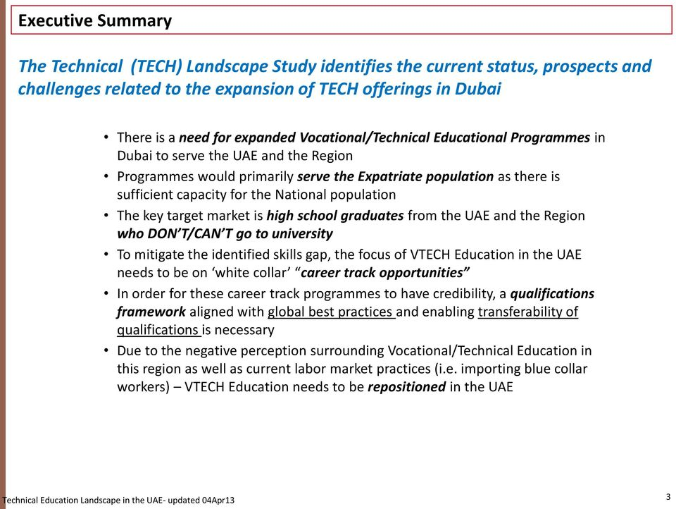 Technical Education Landscape in the UAE: Qualifications