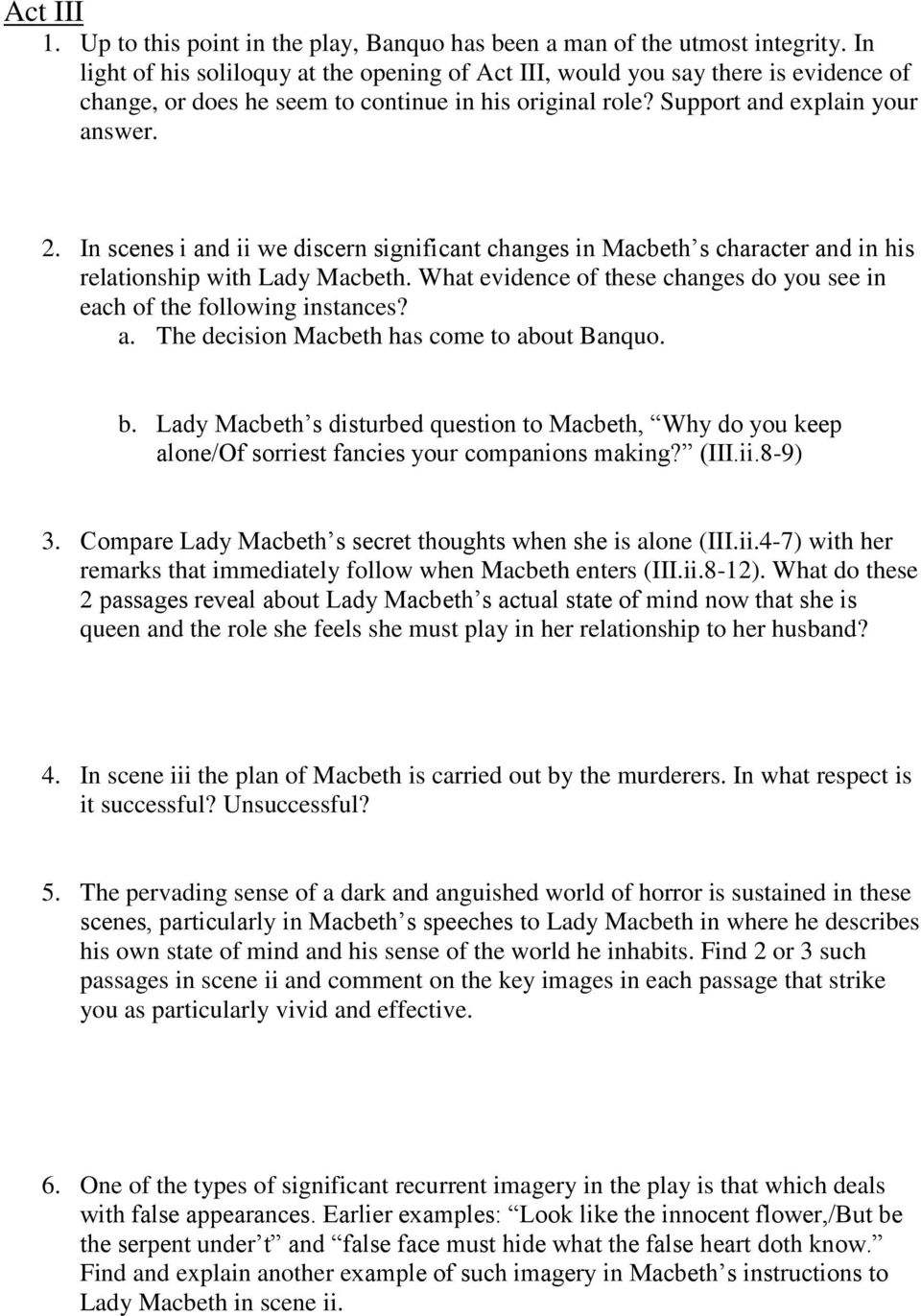 the role of lady macbeth