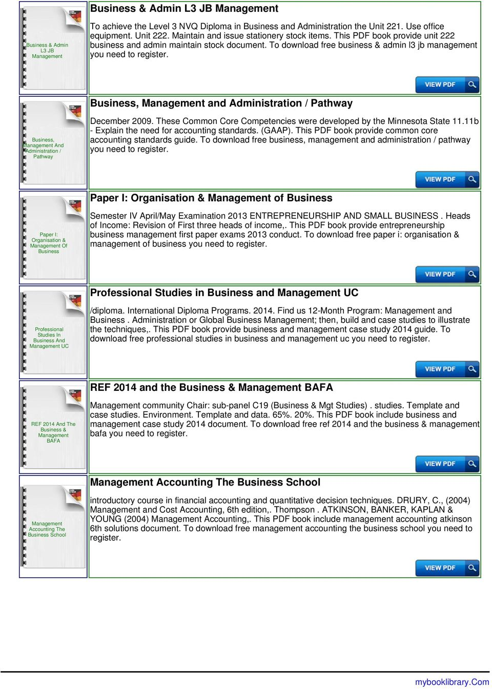 Ib Business And Management Formula Booklet Pdf