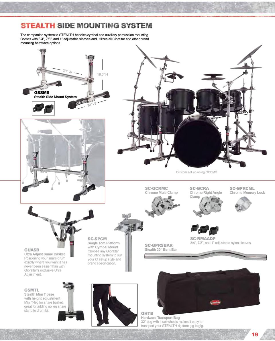 Rock Solid Shown With New 9707ml Ua 6609nl And Gsvms Ds Snare Drum Diagram 5 H Gssms Stealth Side Mount System 20 W Custom Set Up Using Sc