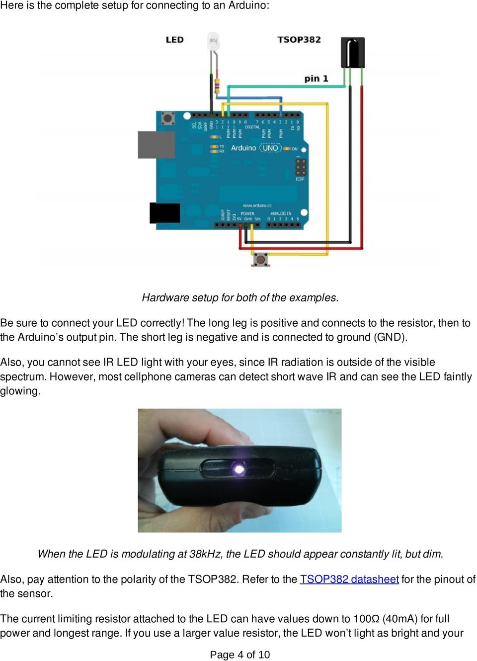 Ir Communication A Learnsparkfuncom Tutorial Pdf Above Circuit Is The Pair Of Irled And Photo Diode To Detect Line Also You Cannot See Led Light With Your Eyes Since Radiation