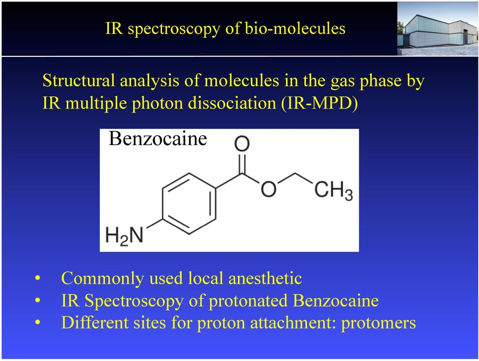 benzocaine ir spectrum analysis