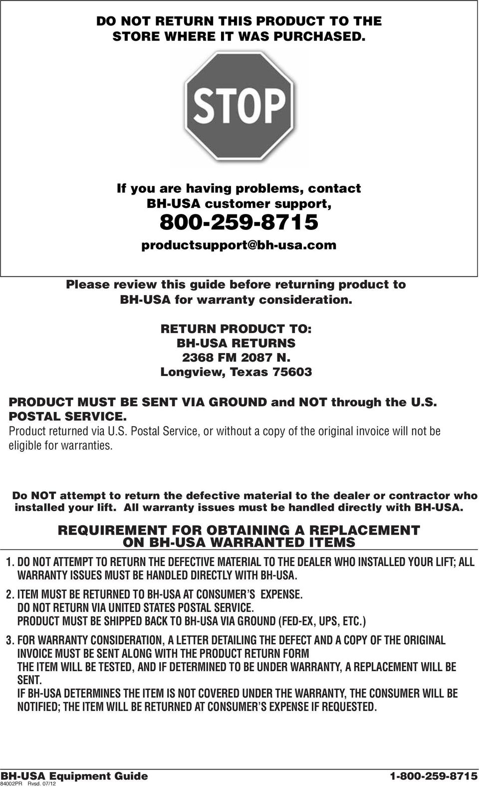Equipment Guide Rvsd This Is Intended For The End User Gear Salzer Drum Switches Wiring Diagram Longview Texas 75603 Product Must Be Sent Via Ground And Not Through Us Postal