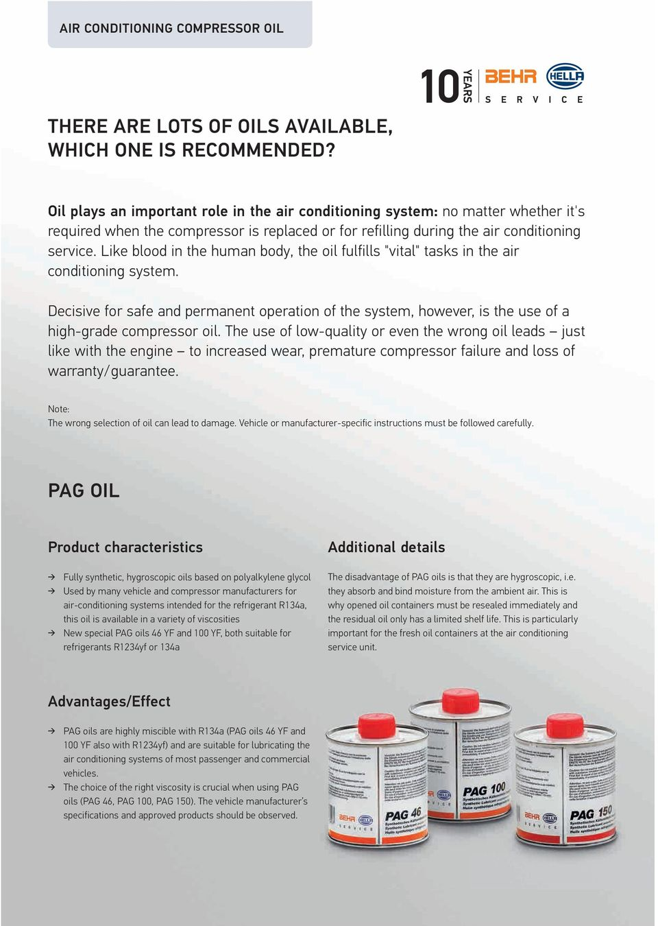 AIR CONDITIONING COMPRESSOR OIL - PDF