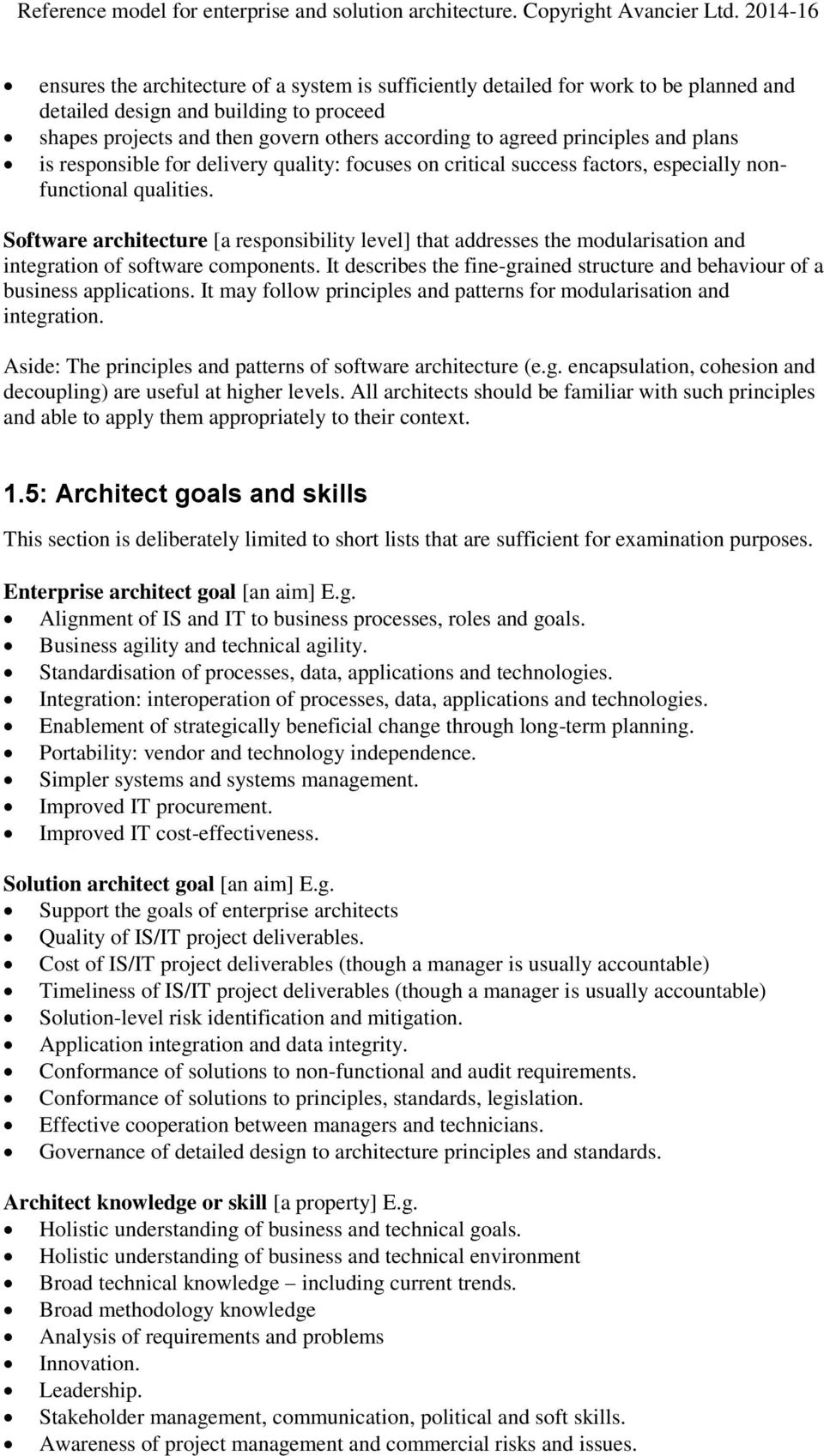 Reference Model for Enterprise and Solution Architecture v PDF