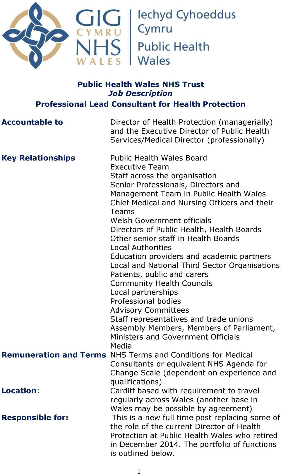 Public Health Wales Chief Medical and Nursing Officers and their Teams Welsh Government officials Directors of Public Health, Health Boards Other senior staff in Health Boards Local Authorities
