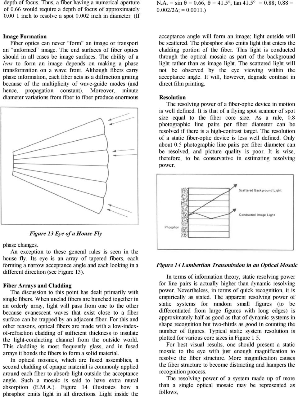 Technical Memorandum 100 Fiber Optics Theory And Applications Pdf Diagram Showing How Light Can The End Surfaces Of Should In All Cases Be Image Ability